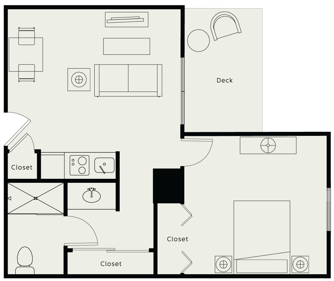 napa valley retirement apartment floor plan