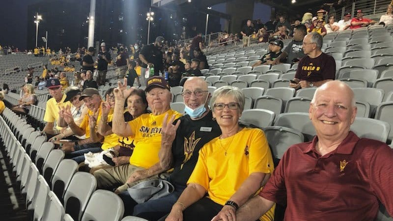 Residents enjoy a free Sun Devils opening game