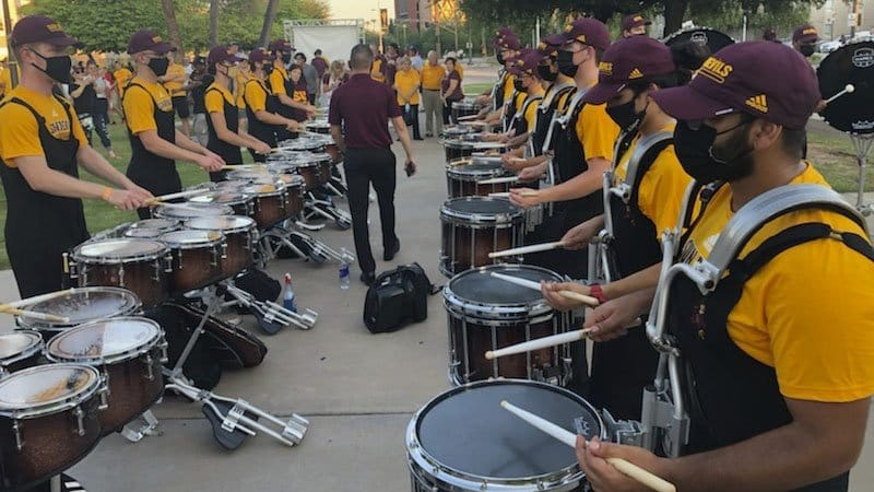 The ASU Drumline