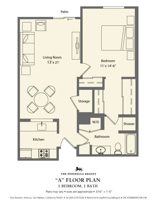 peninsula Regent Floor Plan A